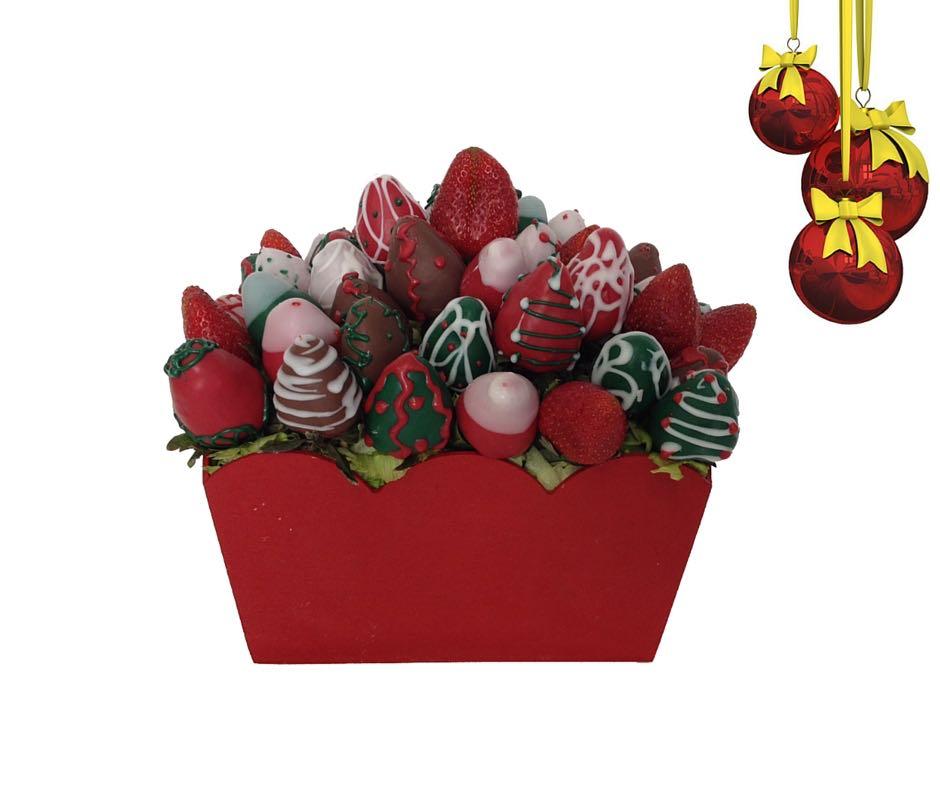 Arreglo de fruta navide o for Arreglo para puertas de navidad